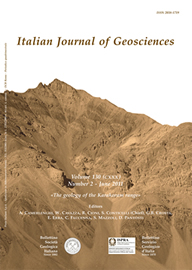 Italian Journal of Geosciences - Vol. June 2011