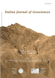 Italian Journal of Geosciences - Vol. October 2011