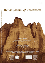 Italian Journal of Geosciences - Vol. June 2013